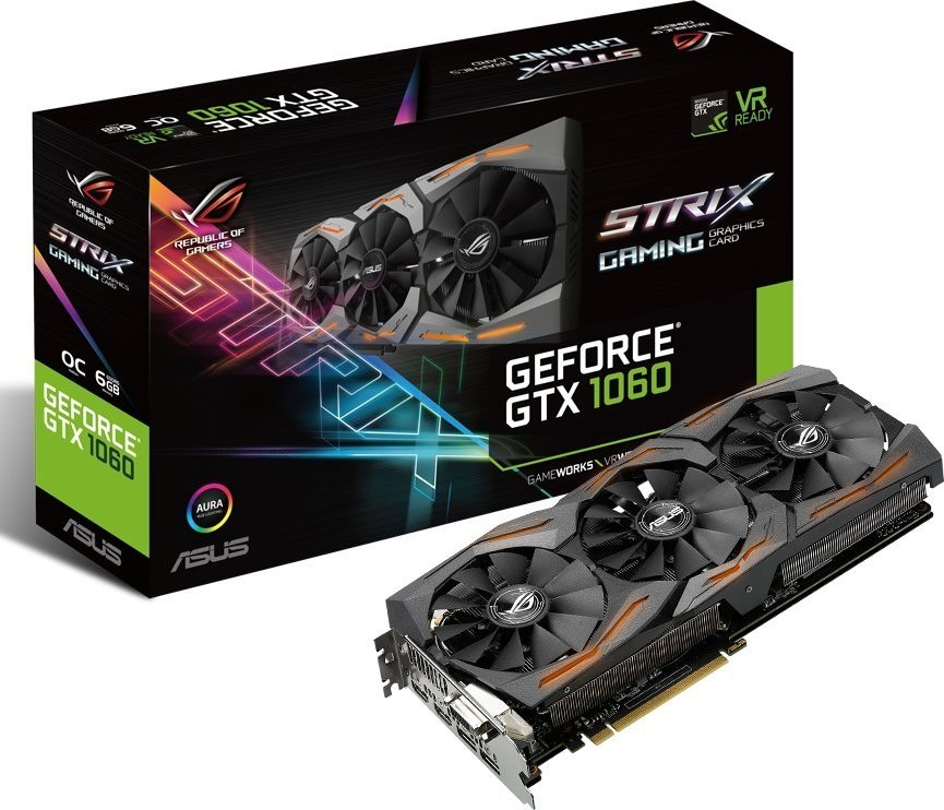 Karta graficzna Asus GeForce GTX 1060 6GB GDDR5 (STRIX-GTX1060-O6G-GAMING)