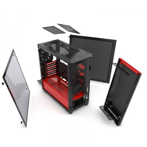 OBUDOWA PHANTEKS ECLIPSE P400 WINDOW BLACK-RED (PH-EC416PTG_BR)